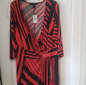 ASHLEY STEWART NWT WRAP KNEE LENGTH DRESS